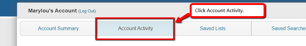 Click Account Activity