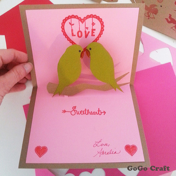 make handmade valentines day pop up cards centralcsr - Make A Pop Up Card