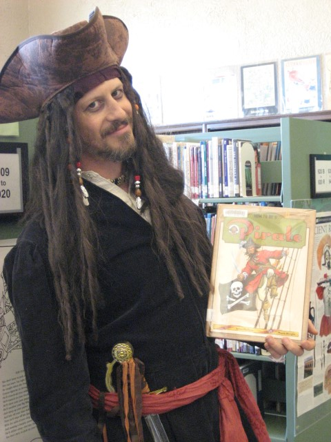 pirate at the library