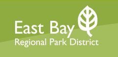 East Bay Regional Park District text logo with graphic emblem of a leaf