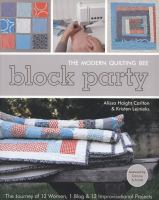 Block Party Book Cover with illustrations of quilts