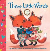 A family of foxes on the book cover of Three Little Words