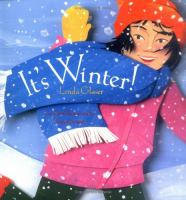 Girl in a snowstorm with a scarf on the cover of Its Winter