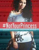 Woman with dark curly hair and a shirt tied around her waist: #Notyourprincess