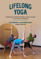 Three people in a yoga pose. Text reads Lifelong Yoga