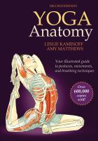 Illustrated muscles and bones of a person in a yoga pose. Text reads Yoga Anatomy