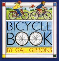 Illustrated two people on bicycles.  Text reads Bicycle Book