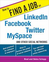 How to Find a Job on LinkedIn Facebook Twitter MySpace