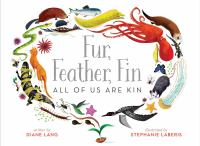 Fur, Feather, Fin book cover with animals flying in a circle