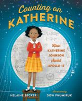 Counting on Katherine book cover with girl standing in front of moon