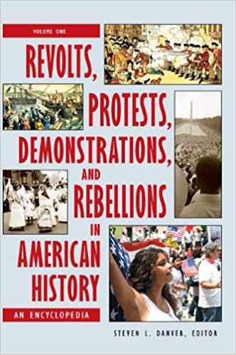 Book cover showing various kinds of protests and battles.