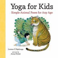 boy doing yoga next to a tiger