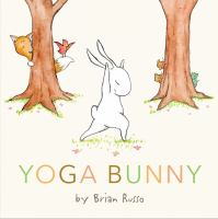 cartoon bunny in a standing yoga pose
