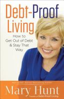 Debt-proof living book cover