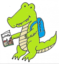 4th 5th Grade Book Club Alligator Mascot
