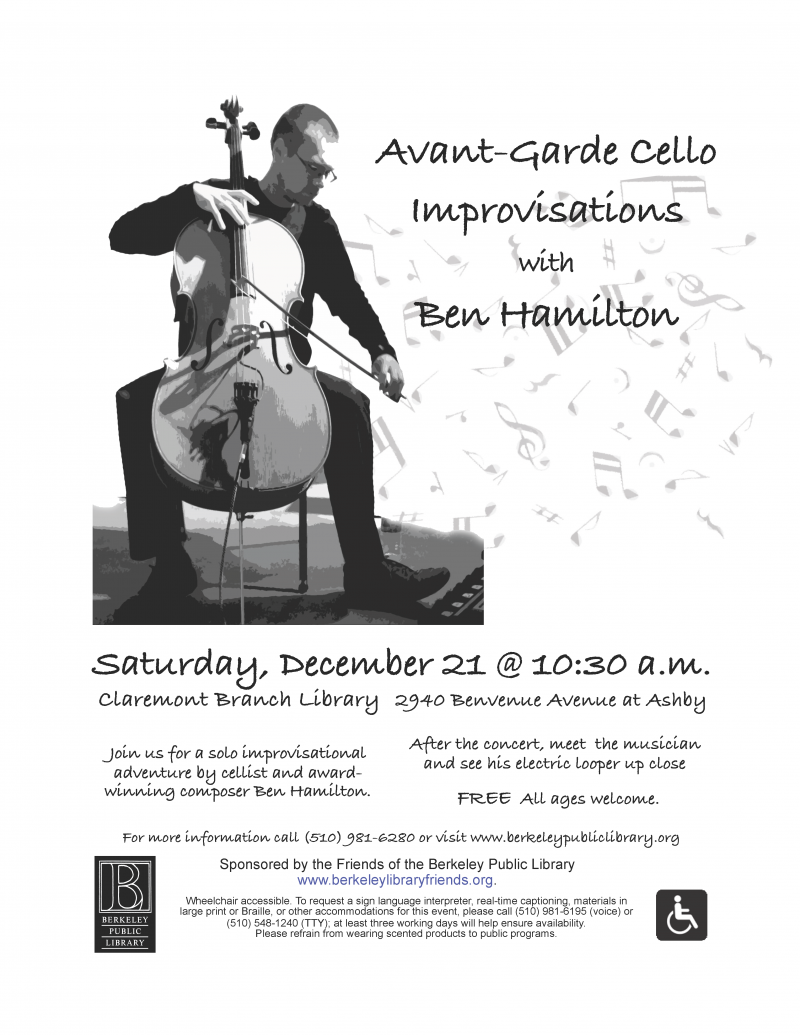 Ben Hamilton Cello Flyer