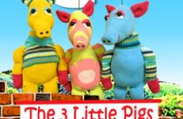 photo of puppets from Three Little Pigs show