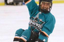 a BORP hockey player