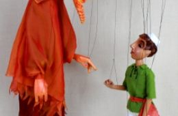 photo of marionettes from the Fratello Marionettes' show Aladdin