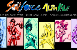 Banner with images of characters from Sol Force graphic novel