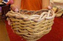 photo of child holding basket