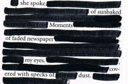 Public domain image of black out poem