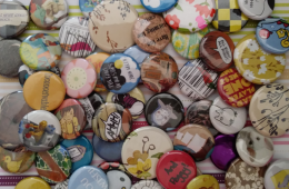 Assortment of colorful buttons