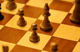 photo of chess board and pieces; Chess by Paul Sableman is licensed under CC BY 2.0;