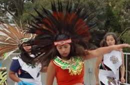 close up of some dancers from Cuauhtli Mitotiani Mexica