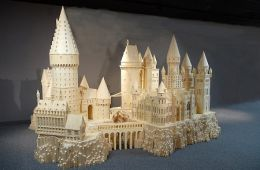 Scale Model of Hogwarts school for Witchcraft and Wizardry from the public domain