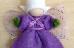 photo of purple DIY felt fairy