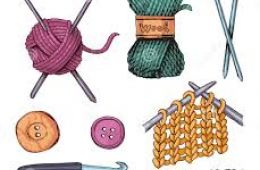 Image of knitting and crochet tools