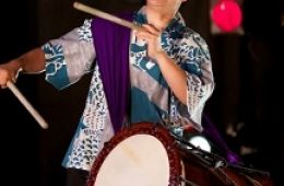 photo of taiko drummer Kristy Oshiro