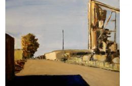 Second Street, Berkeley, oil, 2007 by Pete Najarian