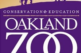 Oakland Zoo logo with elephants and birds