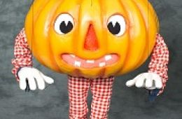 photo of pumpkin marionette from Fratello Marionettes