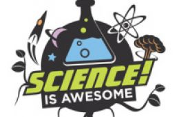 "Logo that says ""Science is Awesome"" from Don O'Brien Xtreme science magic website"