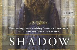 book cover Emma with her back to viewer in front of castle, long, blonde hair