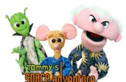 photo of three puppets from Tommy's Space Adventure