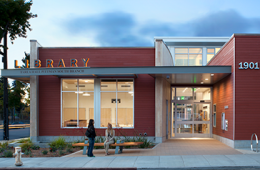 Exterior of the Tarea Hall Pittman South Library