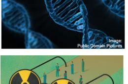 dna and radiation symbols