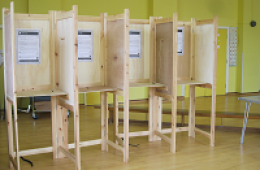 picture of a voting booth