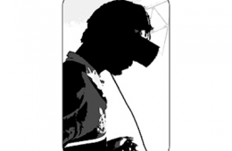 silhouette of a person wearing a VR headset