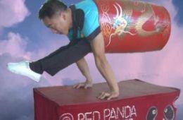 photo of Wayne Huey balancing on his hands