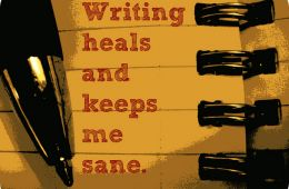 Writing heals and keeps me sane. Image courtesy of Flickr user Denise Krebs