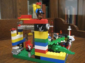 photo of a LEGO creation made by a library patron
