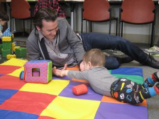 photo of family playing at Family Place Parent-Child Playshop