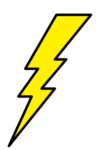 Lightning Bolt icon - image by Longio at da.wikipedia (Own work) [Public domain], via Wikimedia Commons