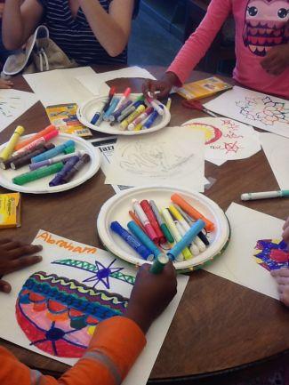photo of kids artwork from JazzArt program