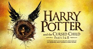 Harry Potter book title with illustration of boy
